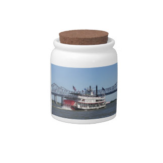 River Boat Cookie Jar Candy Jars