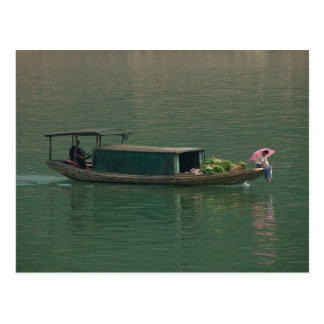 River boat from Yangtze - postcard