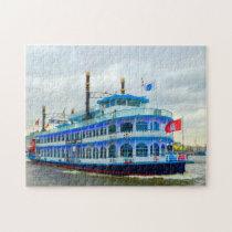 River Boat Hamburg Germany. Jigsaw Puzzle