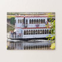 River boat Minnesota.Christmas Greetings Jigsaw Puzzle