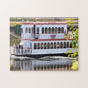 USA Themed River boat Minnesota. Jigsaw Puzzle