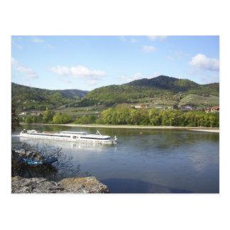 River Boat on the Danube Postcard