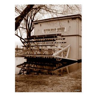 River Boat Queen Landmark Postcard