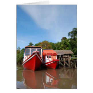 River Boats in Indonesia Card