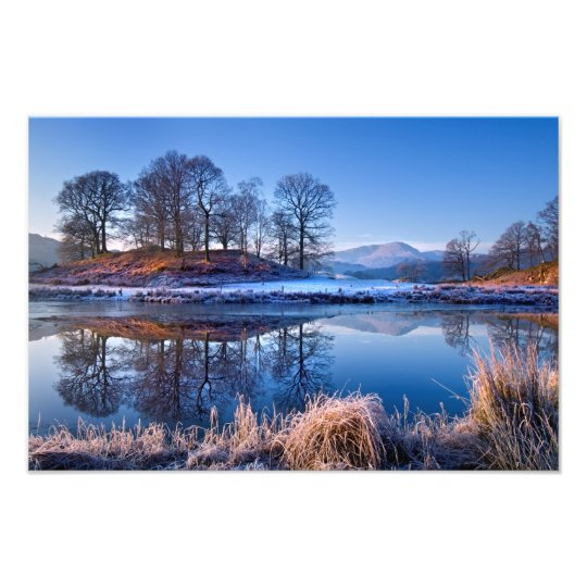 River Brathay reflections - The Lake District Photo Print