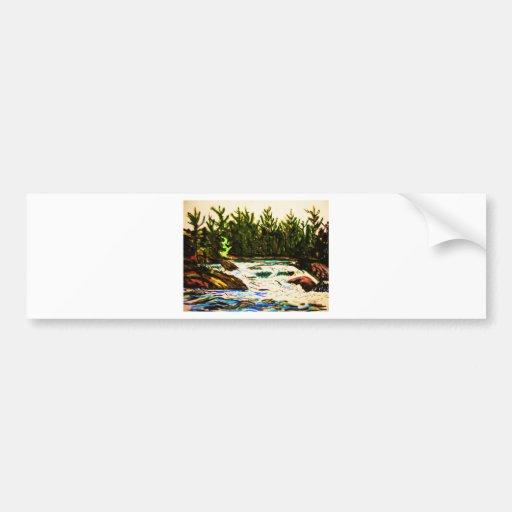 River by John david Hart-donation attawapiskat Bumper Stickers