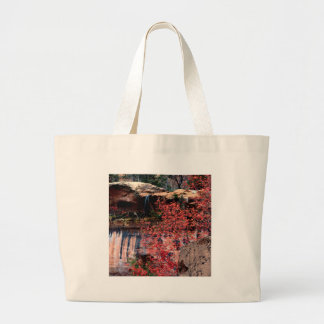 River Calico Emerald Pools Tote Bags