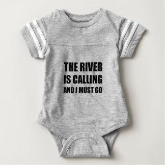 River Calling Must Go Baby Bodysuit