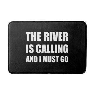 River Calling Must Go Bathroom Mat