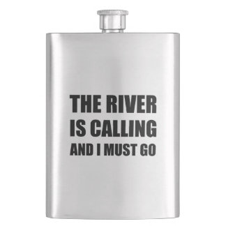 River Calling Must Go Hip Flask