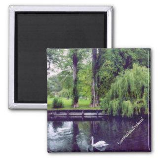 River Cam in Cambridge 2 Inch Square Magnet