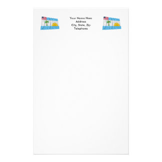 River Cess County Waving Flag Stationery