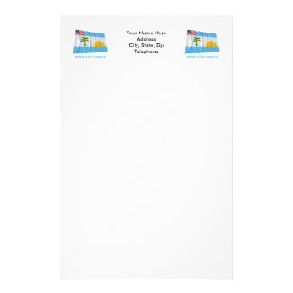River Cess County Waving Flag with Name Stationery