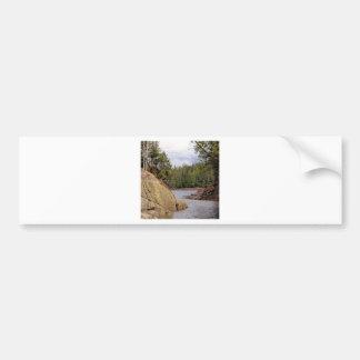 River Channel Temperate Rain Forest Canada Bumper Sticker