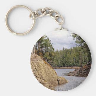 River Channel Temperate Rain Forest Canada Key Chain