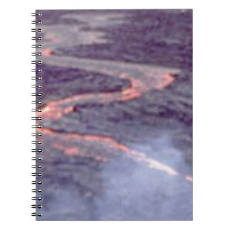 river churn of lava notebook