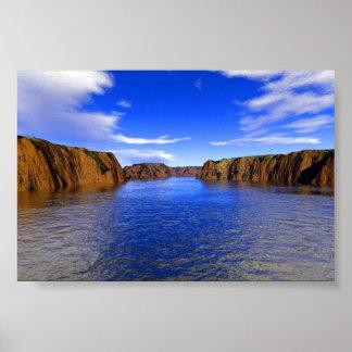 River Cliffs Poster