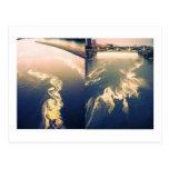 river clouds postcard