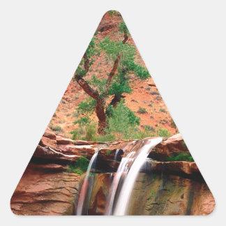 River Coyote Gulch Escalante Canyons Utah Triangle Sticker