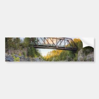 River Crossing Bumper Sticker