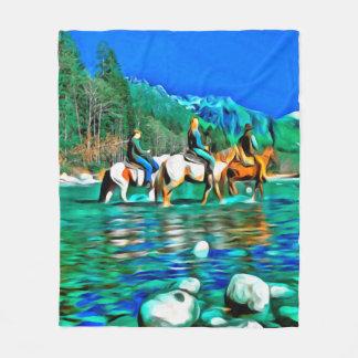 River Crossing Fleece Blanket