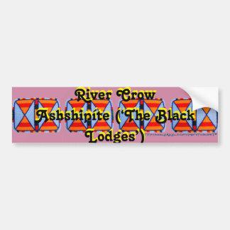 """River Crow or Ashshipíte"" Bumper Sticker"