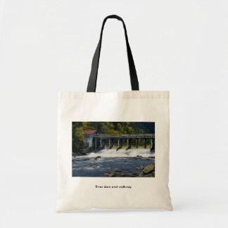 River dam and walkway bag