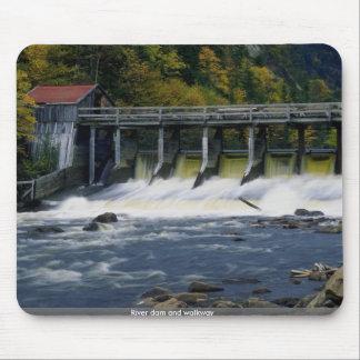 River dam and walkway mousepads