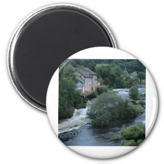River Dee at Llangollen, Wales 2 Inch Round Magnet