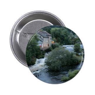River Dee at Llangollen, Wales Buttons