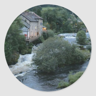 River Dee at Llangollen, Wales Classic Round Sticker
