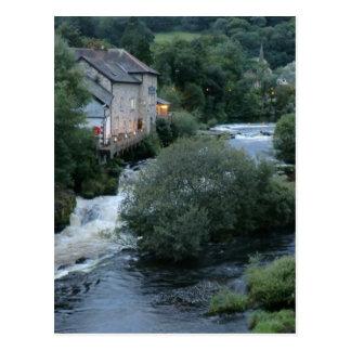 River Dee at Llangollen, Wales Postcard