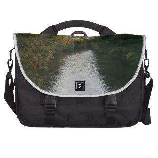 River Derwent at Matlock Bath Laptop Messenger Bag