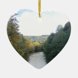 River Derwent in Derbyshire Christmas Tree Ornament