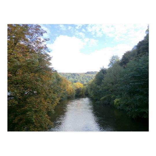 River Derwent in Derbyshire Postcard