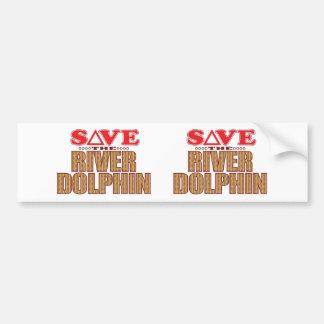 River Dolphin Save Bumper Sticker