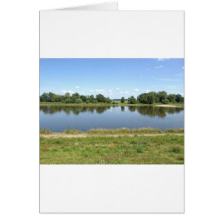 River Elbe in Dessau Germany Card