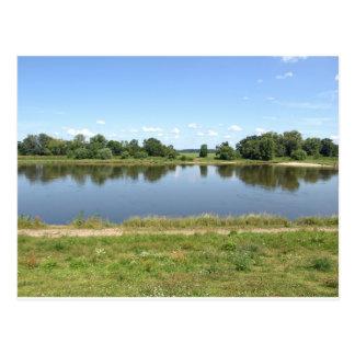 River Elbe in Dessau Germany Postcard