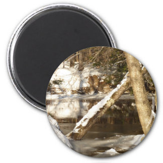 River Entrance 2 Inch Round Magnet