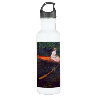 River Epte by Claude Monet Water Bottle