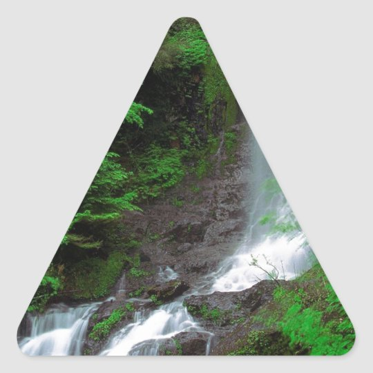 River Ethereal Mount Rainier Triangle Sticker