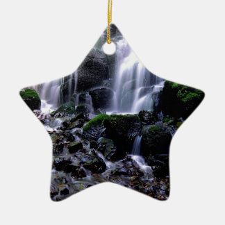 River Fairy Falls Columbia Gorge Oregon Double-Sided Star Ceramic Christmas Ornament