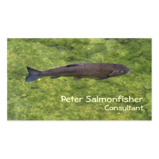 River fish swimming business card template