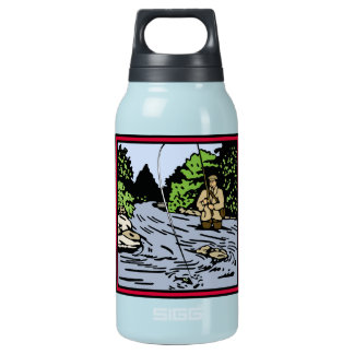 River Fishing Insulated Water Bottle