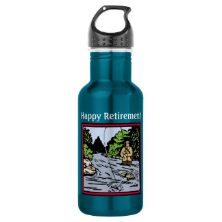 River Fishing Retirement Water Bottle