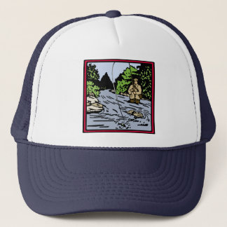 River Fishing Trucker Hat