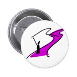 River Fly Fishing in Pink by FishTs.com Buttons