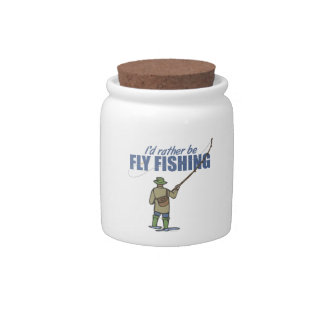 River Fly Fishing in Waders Candy Jar