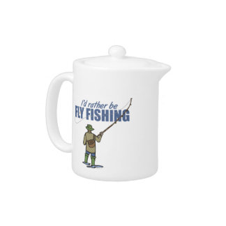 River Fly Fishing in Waders Teapot