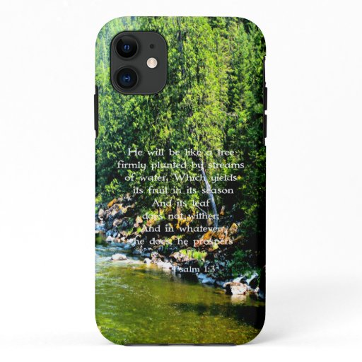 River Forest Christian Scripture Bible Verse iPhone 11 Case